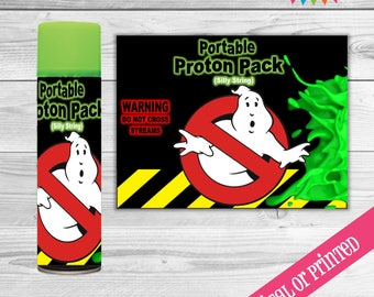 Ghostbuster proton pack, silly string labels DIGITAL
