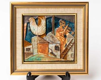 J. Ruth Faktor, Framed Ceramic Wall Plaque