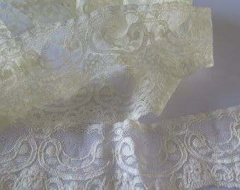 Beautiful Pale Yellow Lace Trim - Sold in METERS