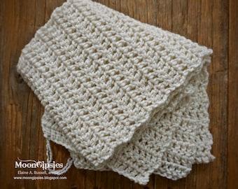 Handmade crocheted scarf - Cream Dream