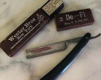 "Dapper Dude Wester Bros. Straight Razor De-Fi Got it at The Plastic Flamingo Man Stuff ""Makin Love like a Man"" Macho Man Vintage Style"
