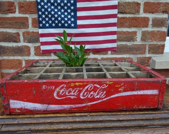 Vintage American Coca Cola Crate - 24 Section
