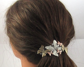 Butterfly French Barrette 80mm- Butterflies- Hair Accessory-Barrettes and Clips-