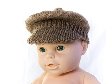 KNITTING PATTERN, PDF, Newsboy Cap, Brimmed Cap, Baby Boy Cap, Knit Newsboy Cap Pattern, Instant Download,