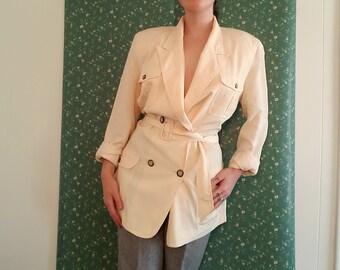 SK & Company White/ Off White Light Blazer Jacket Size 10 Medium/Large