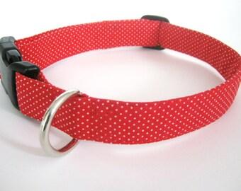 dog collar ,red dog collar ,red collar ,pet collar