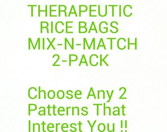 Hand Crafted Small Mix-N-Match Therapeutic Rice Bag - 2 Pack