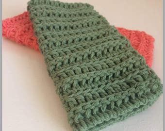 Simple Stripes Washcloth Crochet Pattern ... Instant Download