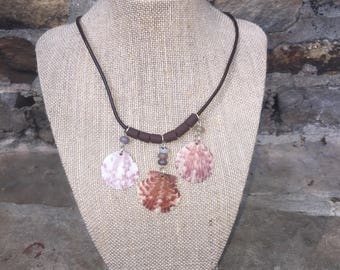 Scallop shell necklace