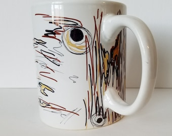 Coffee Mug // Unique Coffee Mug // Decorative Coffee Mug // Textures // Designs
