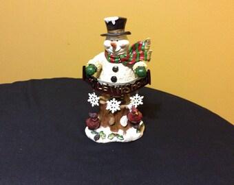 Vintage Wobble Let it Snow Snowman