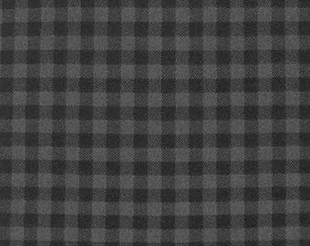 Burly Beavers FLANNEL Yardage - SKU: 15995-293 Smoke - By Andie Hanna for Robert Kaufman Fabrics