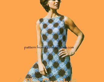 Motif Crochet Dress Pattern PDF 626 from WonkyZebra