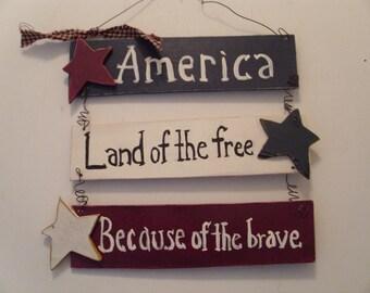 Patriotic Americana wall hanger,patriotic door hanger,patriotic decor,americana decor,memorial day,independence day