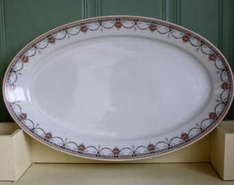 Large Serving Platter Restaurant Ware Art Deco 1931