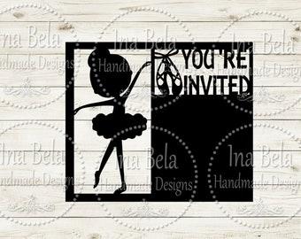 Ballerina SVG,Invitation Svg,Svg Files for Cricut,Svg Files,Silhouette Cut File,Silhouette Cameo Svg,Silhouette SVG File,Cameo Svg File