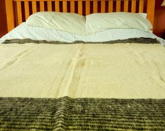 Thick Woven Blanket, 60x50 Wool Throw blanket, Chunky blanket, Handmade, Fairtrade, Manosfair