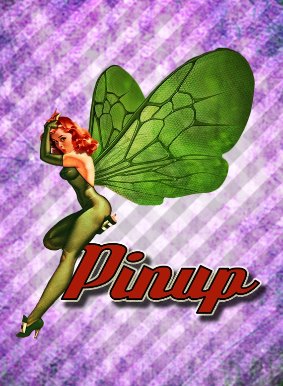 Pin Up Clip Art Fairy Retro 50s Vintage DIY Printable PinUp Clipart Sexy Cute From KrakenCustomDesigns