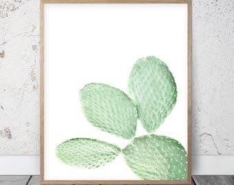 Cactus Poster, Cactus Art Print, Cacti Printable, Cactus Printable Art, Neutral Nursery, Cacti Art Print, Minimalist Poster, Pastel Wall Art