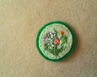 Farmer's Market Bouquet (Patch, Pin, Brooch, or Magnet)