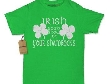 Irish You'd Show Me Your Shamrocks Womens T-shirt