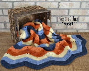 Crochet Chevron Baby Blanket - Crochet Baby Blanket - Chevron Baby Blanket - Baby Blanket