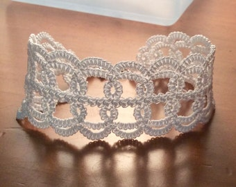 Hand Tatted Lace Bracelet
