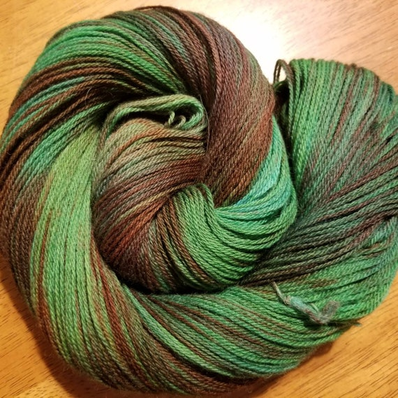 Summer Leaves  Indie Glaze Dyed 100% Peruvian Highland Wool/SW - Fingering weight yarn 100g,  402yds