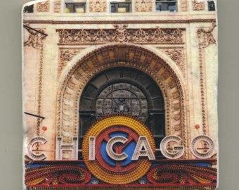 Chicago Theater Marquee - Original Coaster