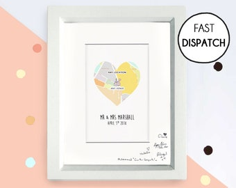 Travel wedding guestbook, heart map, travel theme wedding, guest book alternative, proposal gift, southwestern wedding