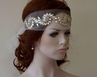 Rhinestone Crystal Bridal Headband,  Crystal Wedding Headband, Bridal Headpiece, Bridal Hair Accessories