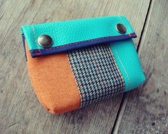 Cute Purse, Handmade Personalized Purse, Plaid, Vegan Friendly, Vegan Leather, Leather Purse, MakeUp Bag, Coin Purse, Cardholder, UNUSUAL
