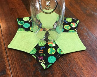 Luck of the Irish quilted table topper