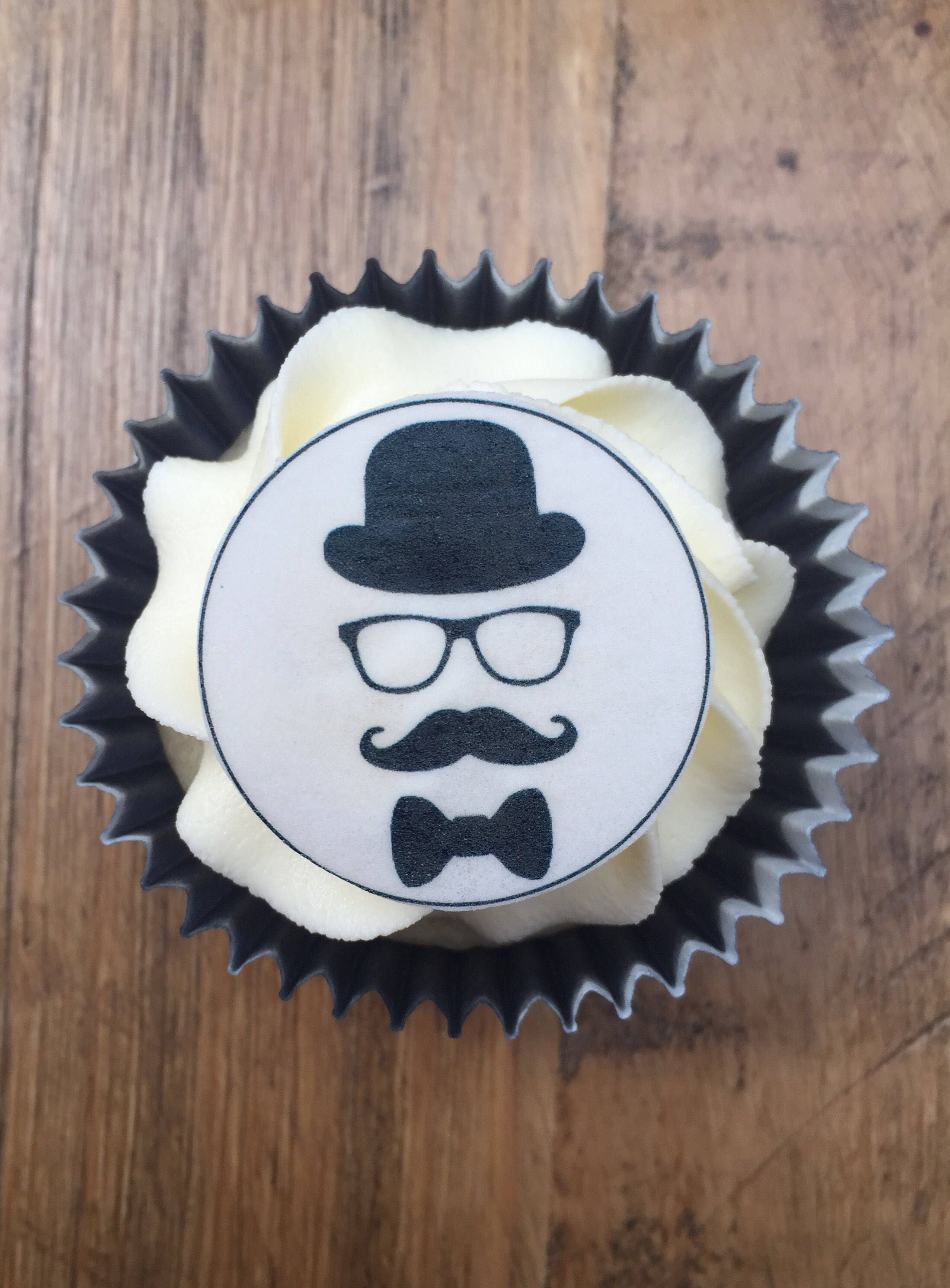 Moustache Cake Toppers Mans Birthday Cake Toppers Gentleman Cake