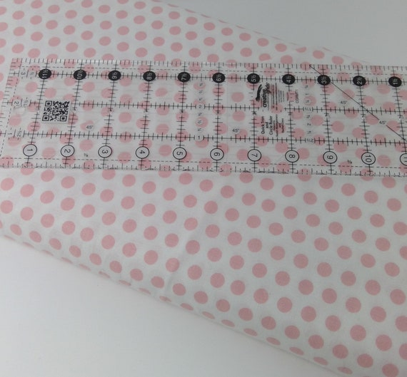 """Pink Dots on White Background From Fab """"Friend"""" ZY by Tickled Pink, Barbara Jones, Quilt Fabric By The Yard 6488 2"""