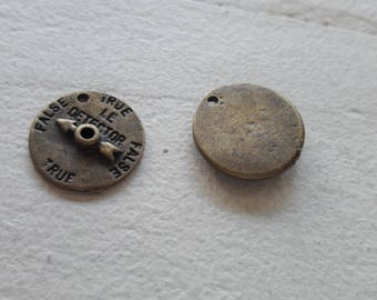 clearance * 5 compass, bronze medal pendant