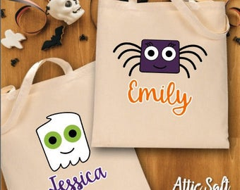 Personalized Halloween Bag, Trick or Treat Bag, Halloween Treat Bag, Halloween Bag