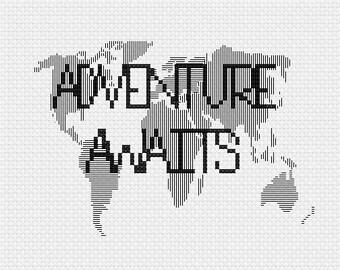 Adventure Awaits Cross Stitch Pattern