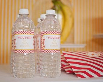 Monkey Water Bottle Labels- Printable, Instant Download