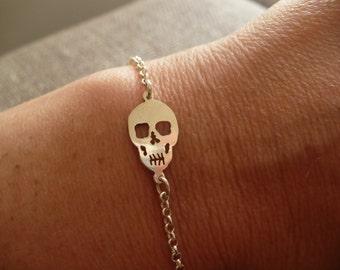 skull silver bracelet