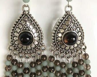 Smoky Quartz Chandelier Earrings
