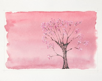 Japanese Cherry Blossom : Limited Edition Print