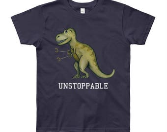 Youth Unstoppable T-Rex Short Sleeve T-Shirt