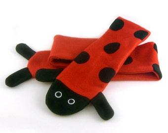 JULY PREORDER Ladybug scarf red animal fleece childrens kids adults cute soft cosplay costume anime kawaii cute gift ears otaku