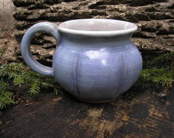 Gourd  Mug 15oz.,  / tea mug/ coffee mug / sensuous feel, handmade pottery