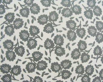 Set of 3 sheets of paper Decopatch trios of grey leaves