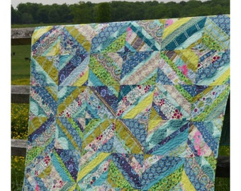 "All Strung Up Quilt Pattern #MC007, 63"" x 80"", May Chappell"