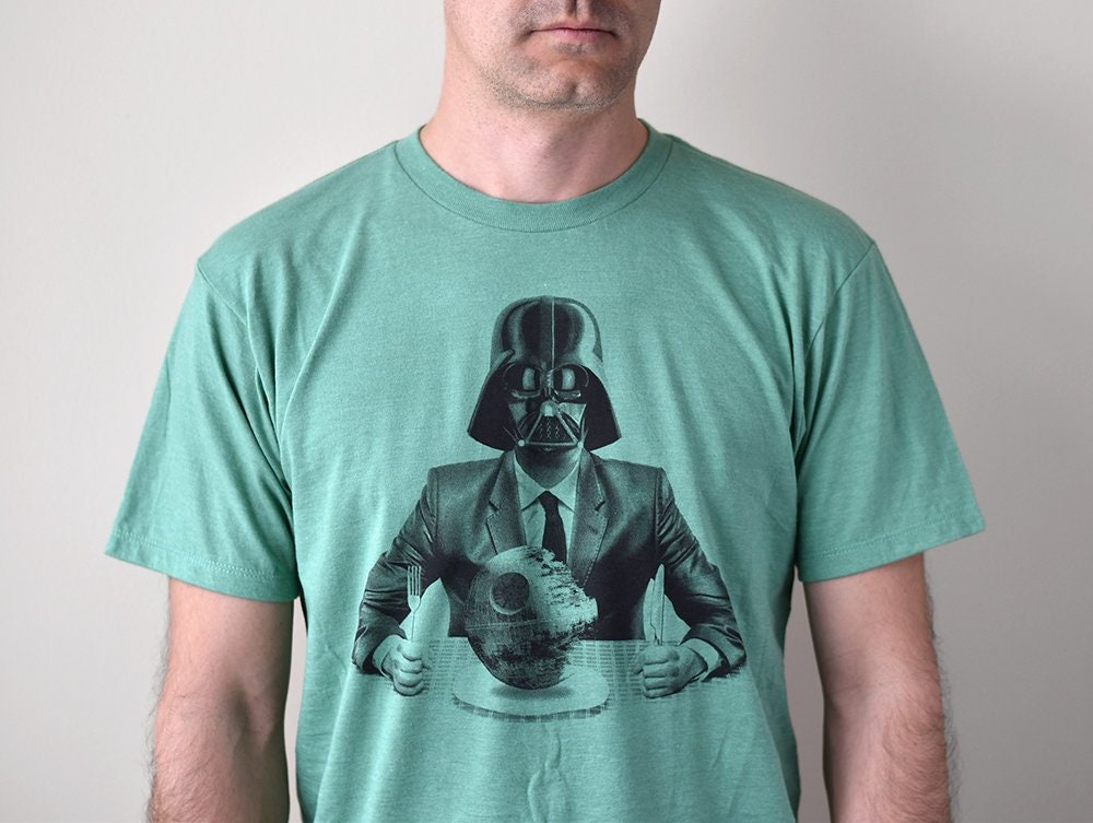 Star wars men's graphic t-shirt, Darth Vader business suite, death star shirt, gift for husband, dad shirt, gift for boss, Christmas gift