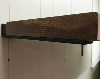 4 inch floating shelf bracket 2 inch wide x 1/4 thick. Hidden floating shelf brackets.