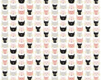 SALE Meow - Cat fabric - Cats - By My Mind's Eye - Riley Blake Designs
